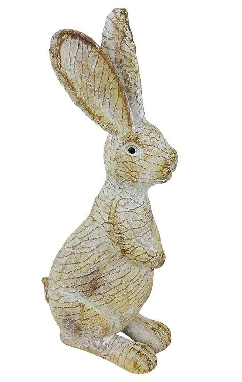 Worn Posed Resin Bunny 23cm Shipping furniture UK