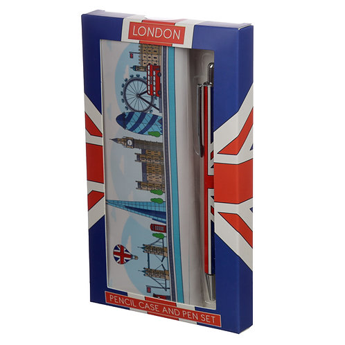 Pen & Pencil Case Set - London Icons Novelty Gift  [Pack of 2]
