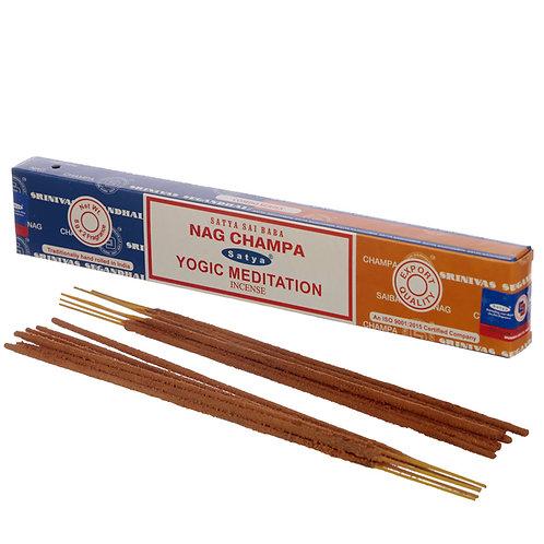 Satya Incense Sticks - Nag Champa & Yogic Meditation Novelty Gift