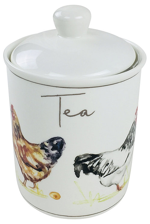 Country Chickens Ceramic Canister - Tea Shipping furniture UK