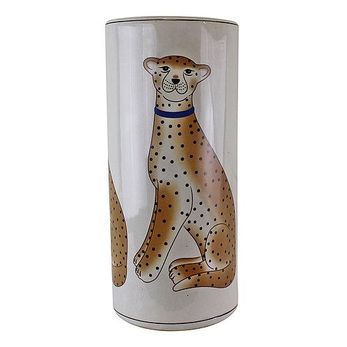 Ceramic Umbrella Stand, Leopard Design Shipping furniture UK