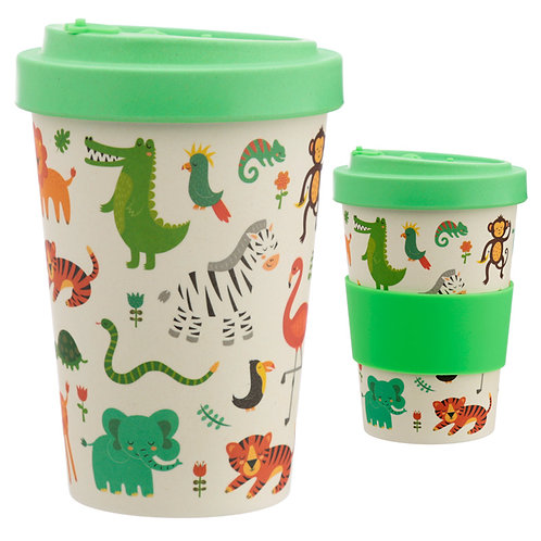 Bamboo Composite Zooniverse Screw Top Travel Mug Novelty Gift