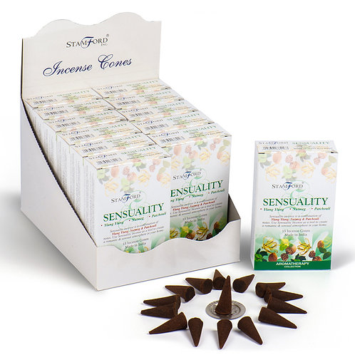 Stamford Hex Incense Cones - Sensuality [Pack of 12] Novelty Gift
