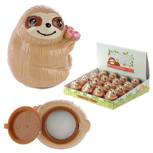 Funky Lip Balm - Cute Sloth Design Novelty Gift [Pack of 2]