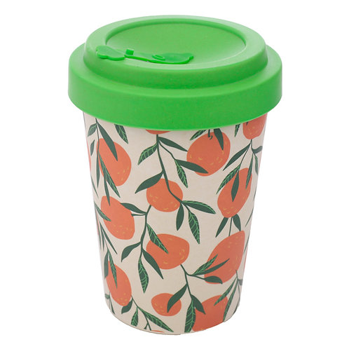 Bamboo Composite Oranges Screw Top Travel Mug Novelty Gift