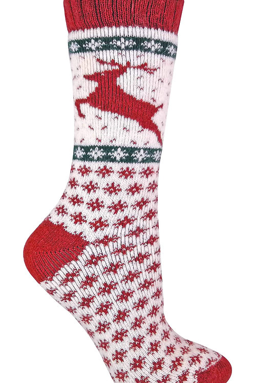 Ladies Wool Christmas Socks