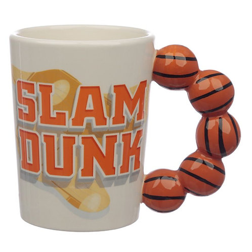 Fun Basket Ball Shaped Handle Ceramic Mug Novelty Gift