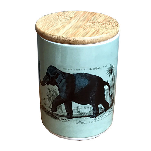 Ceramic Canister With Elephant Shipping furniture UK