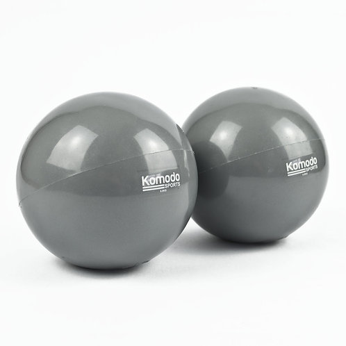 Grey Weighted Toning Ball - 2x 0.5kg | Home Essentials UK