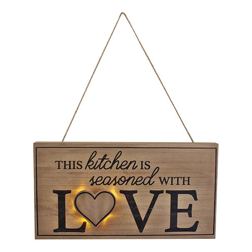 3D LED Kitchen Wall Hanging Plaque Shipping furniture UK