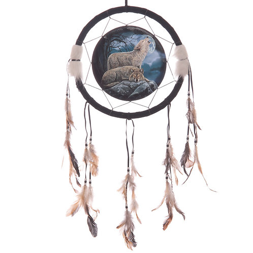 Decorative Mystical Wolf Pair 34cm Dreamcatcher Novelty Gift