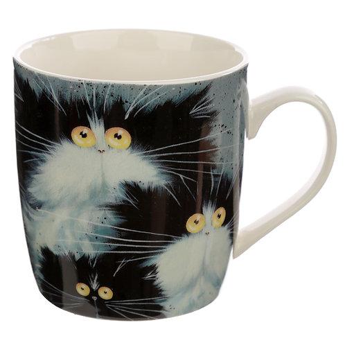 Collectable Porcelain Mug - Kim Haskins Cats Novelty Gift