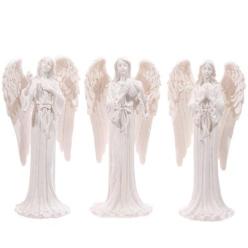 Tall Elegant White Standing Angel Figurine Novelty Gift