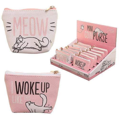 Novelty Gift Handy PVC Make Up Bag Purse, - Simon's Cat