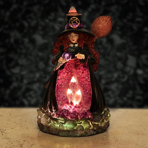 Backflow Incense Burner - Witches LED Crystal Cave Novelty Gift