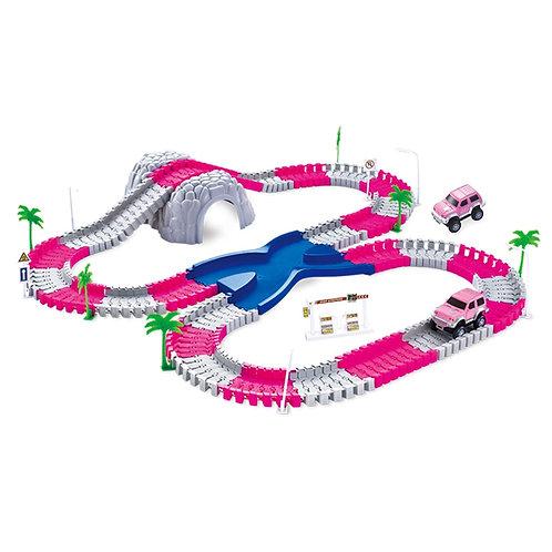 144 Piece Pink Toy Car Track Set | Home Essentials UK