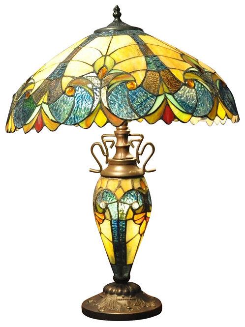Blue & Yellow Double Tiffany Lamp 68cm Shipping furniture UK
