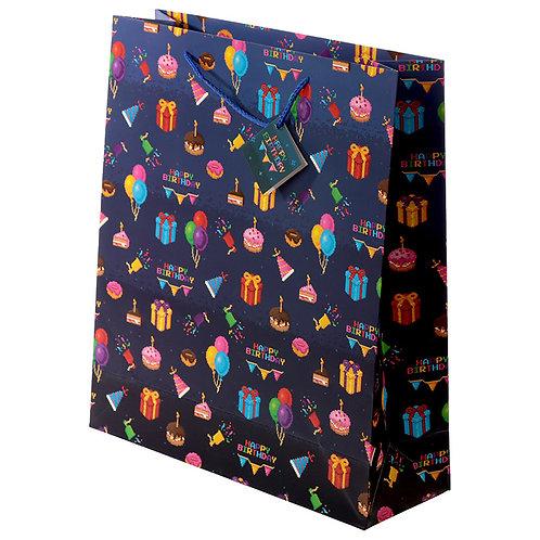 Happy Birthday Game Over Gamer Design Extra Large Gift Bag Novelty Gift