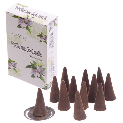 Novelty Gift Stamford Hex Incense Cones - White Musk