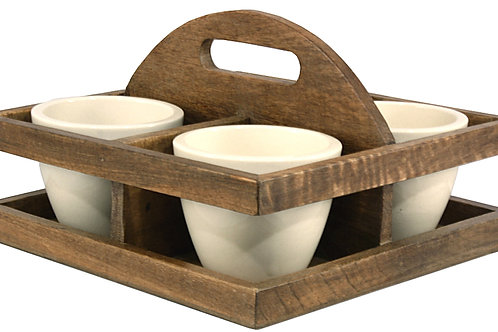 Bowl/Planter Tray with Handle Shipping furniture UK