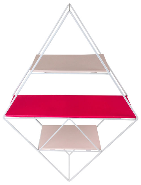 Pink Wire Geometric Shelf Shipping furniture UK