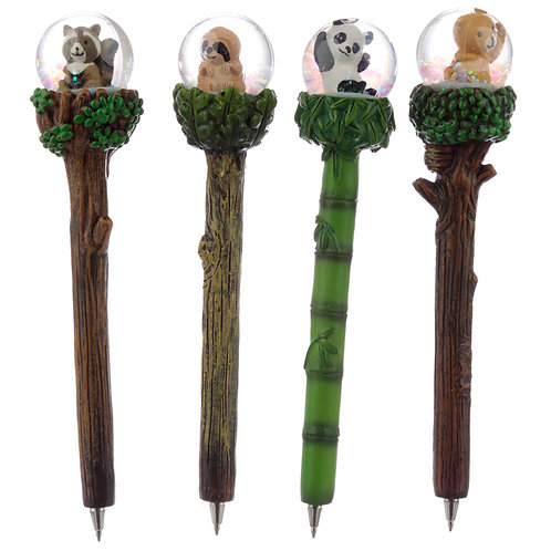 Cute Animals Waterball Novelty Pen Novelty Gift [Pack of 2]