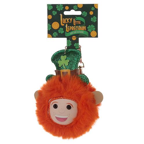 Fun Collectable Pom Pom Keyring - Lucky Leprechaun Novelty Gift