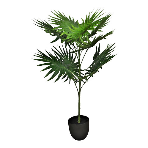 Artificial Fan Palm Tree  with 10 leaves, 100cm Shipping furniture UK