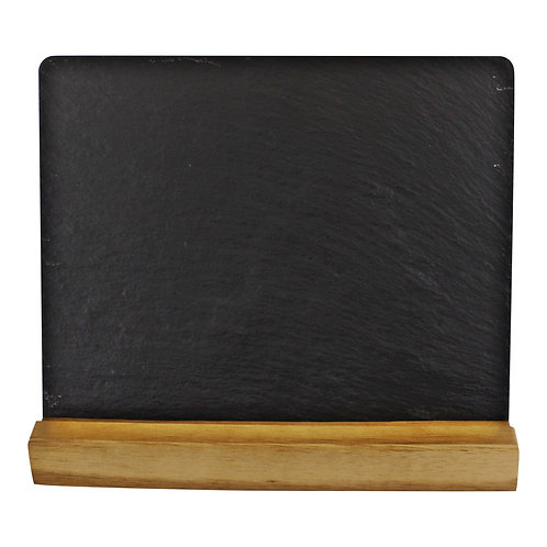 Acacia Wood Slate Menu Board Shipping furniture UK