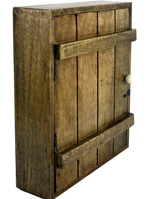 Solid Wood Wall Hanging Key Cabinet with 6 Hooks Shipping furniture UK