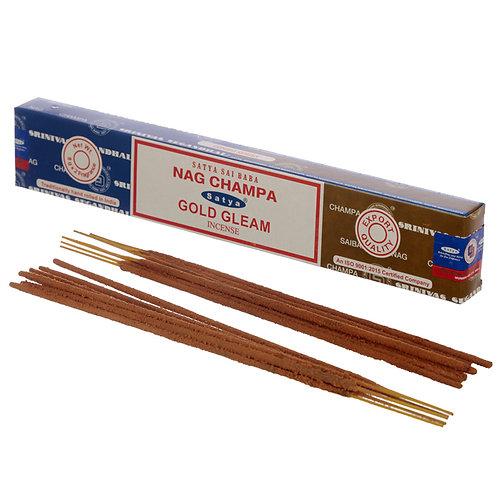 Satya Incense Sticks - Nag Champa & Gold Gleam Novelty Gift