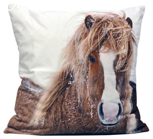 Winter Pony Cushion 45cm Shipping furniture UK