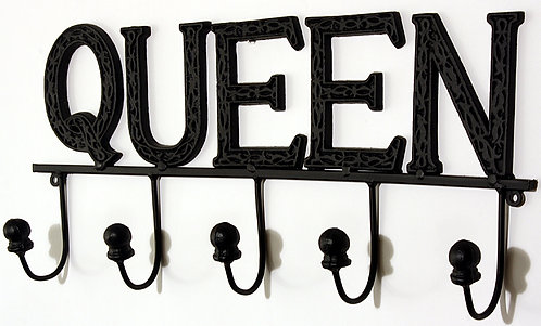 Black Queen 5 Hook Wall Unit Shipping furniture UK
