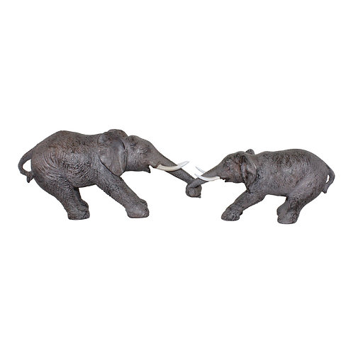 Elephants Holding Trunks Ornament Shipping furniture UK