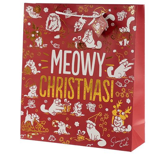 Meowy Christmas Simon's Cat Extra Large Christmas Gift Bag Novelty Gift