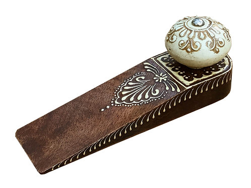 Brown Doorstop With Wooden Knob Shipping furniture UK