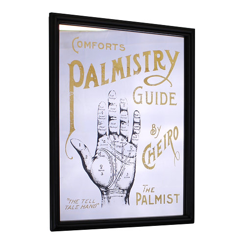 Retro Mirrored Wall Sign, Palmistry Shipping furniture UK