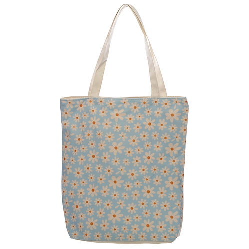 Handy Cotton Zip Up Shopping Bag - Oopsie Daisy Novelty Gift