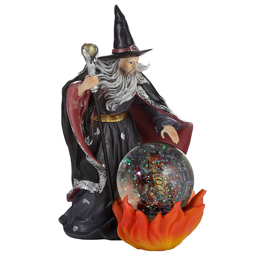 Spirit of the Sorcerer - Fire Dragon Wizard Snow Globe Waterball Novelty Gift