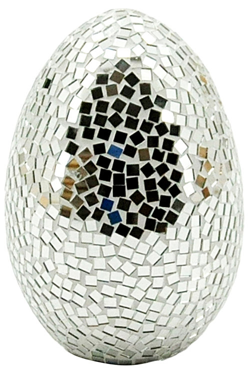 Silver Mosaic Egg 40cm Shipping furniture UK