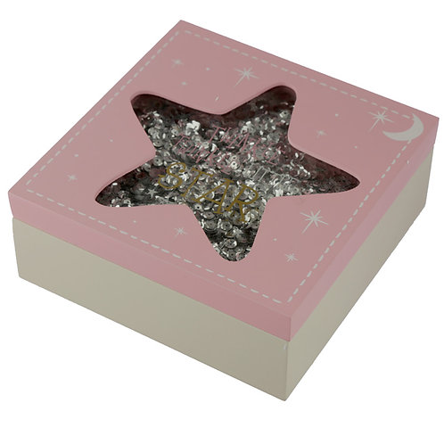 Baby Girl Keepsake Box - Twinkle Twinkle Star Novelty Gift