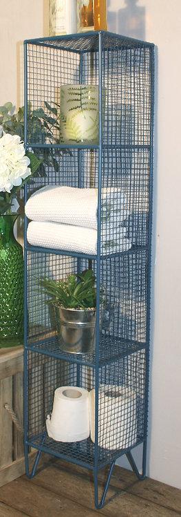 4 Tier Square Shelf Unit Blue Shipping furniture UK