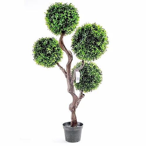 Artificial Large 90cm UV Boxwood Topiay Tree Shipping furniture UK