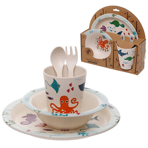 Bamboo Composite Sealife Kids Dinner Set Novelty Gift