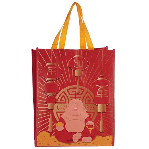 Lucky Buddha Design Durable Reusable Shopping Bag Novelty Gift
