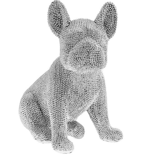 Sitting Glitter French Bulldog 20cm Shipping furniture UK