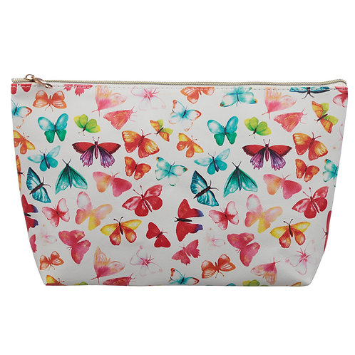 Large PVC Make Up Toiletry Wash Bag - Butterfly House Novelty Gift