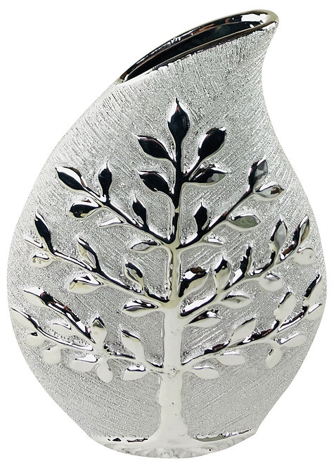 Silver Tree Of Life Vase 25cm  Shipping furniture UK
