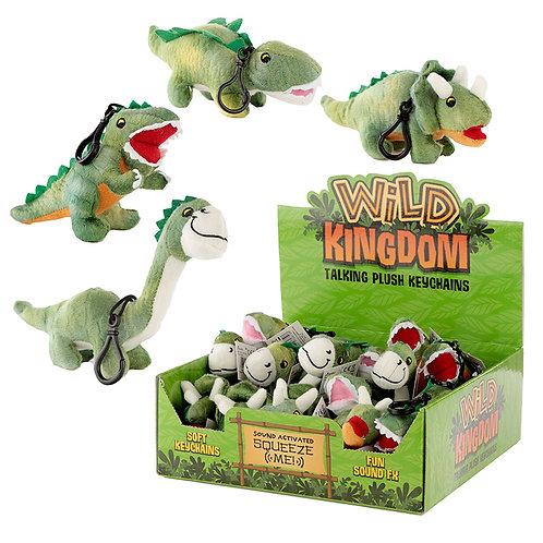 Plush Dinosaur Sound Keyring Novelty Gift