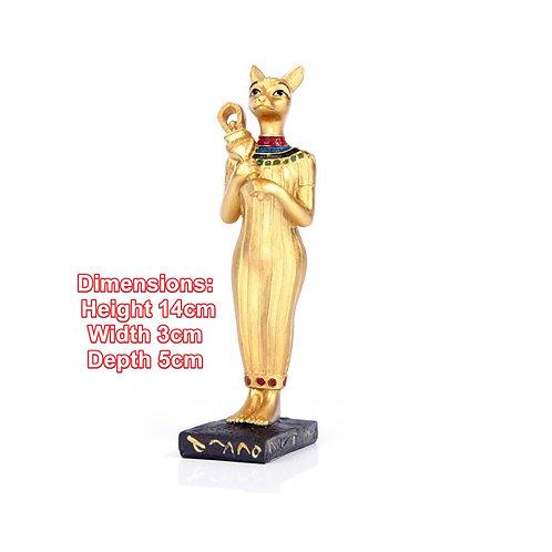 Decorative Novelty Gold Standing Bast Egyptian Figurine Gift